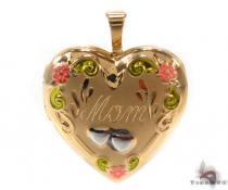 Silver Plated in 14k Gold Heart Necklace 34716 Sterling Silver Necklaces