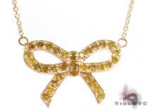 Prong Diamond Ribbon Necklace 34720 ダイヤモンドネックレス