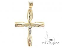 10k Gold Cross 34850 Mens Gold Cross