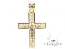 10k Gold Cross Crucifix 34853 メンズ ゴールド クロス