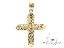 10k Gold Cross 34859 Mens Gold Cross
