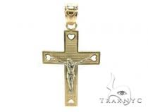 10k Gold Cross Crucifix 34860 メンズ ゴールド クロス
