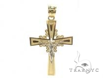 10k Gold Cross 34863 Mens Gold Cross
