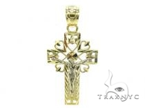 10k Gold Cross 34864 Mens Gold Cross