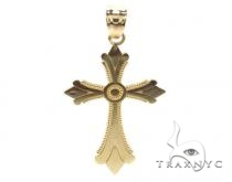 10k Gold Cross 34865 Mens Gold Cross
