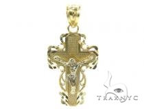 10k Gold Cross 34866 Mens Gold Cross