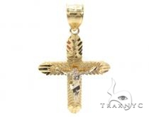 10k Gold Cross 34873 Mens Gold Cross