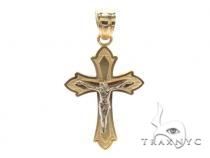 10k Gold Cross Crucifix 34874 メンズ ゴールド クロス