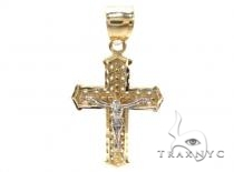10k Gold Cross 34875 Mens Gold Cross