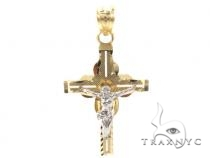 10k Gold Cross 34876 Gold
