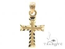 10k Gold Cross 34879 Mens Gold Cross