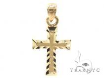 10k Gold Cross Crucifix 34879 メンズ ゴールド クロス