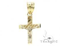 10k Gold Cross Crucifix 34883 メンズ ゴールド クロス