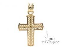 10k Gold Cross 34885 Gold