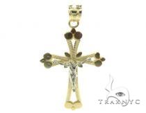 10k Gold Cross Crucifix 34889 メンズ ゴールド クロス