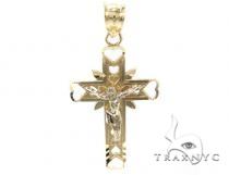 10k Gold Cross Crucifix 34892 メンズ ゴールド クロス
