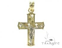 10k Gold Cross 34887 Mens Gold Cross
