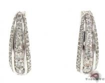 Prong Diamond Hoop Earrings 34931 Diamond Hoop Earrings