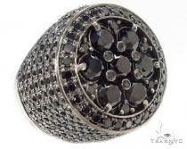 Black Diamond Silver Ring 34945 Mens Silver Rings