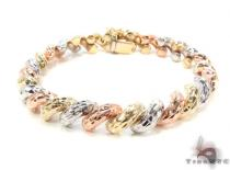 14K Multi-Color Bracelet 34950 ゴールドブレスレット