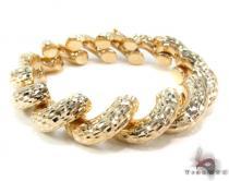 14K Gold Twist Bracelet 34952 ゴールドブレスレット