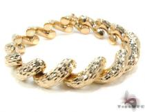 14K Gold Twist Bracelet 34953 ゴールドブレスレット