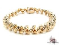 14K Gold Twist Bracelet 34954 ゴールドブレスレット