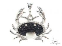 Prong Diamond Crab Pendant 34992 Sterling Silver Charms