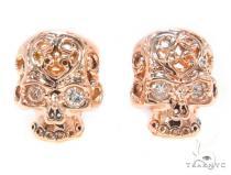 Mens Rose Gold Skull Earrings Mens Stud Earrings