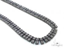 Diamond Silver Chain 38 Inches, 7mm, 89.3 Grams Silver Chains