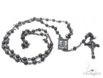 Prong Diamond Silver Rosary Chain Silver Chains