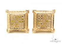 Prong Diamond Silver Earrings 35068 Metal