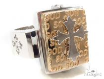 14K Gold Cross Ring 35207 Mens Gold Rings