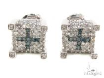 Prong Diamond Earrings 35295 Mens Diamond Earrings