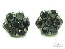 Prong Diamond Earrings 35309 Black Diamond Earrings