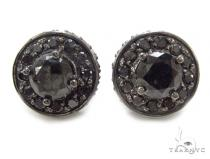 Prong Black Diamond Earrings 35310 Stone
