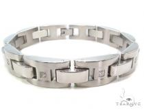 Mens CZ Stainless Steel Bracelet Stainless Steel Bracelets