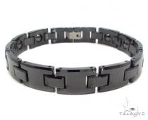 Black Ceramic and Stainless Steel Bracelet Stainless Steel Bracelets