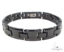 Black Ceramic and Stainless Steel Bracelet ステンレススティール ブレスレット