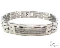 Mens CZ Stainless Steel Bracelet ステンレススティール ブレスレット