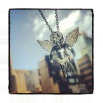 Prong Diamond Angel Pendant 35220 Diamond Pendants