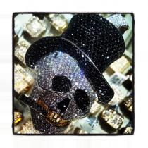Custom Jewelry - Rich Boy Skull Pendant Diamond Skull Pendants