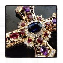Czar Gemstone Cross Crucifix メンズ ダイヤモンド クロス