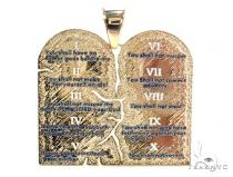 18K Gold Custom Decalogue Pendant Metal
