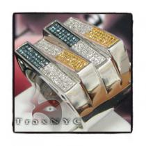 Hip Hop Jewelry - Tri-Color EX1 Ring Mens Diamond Rings