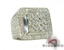 Freeze 10k White Gold Premiere Ring Mens Diamond Rings