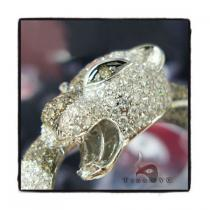 Cougar Bangle Bracelet Diamond