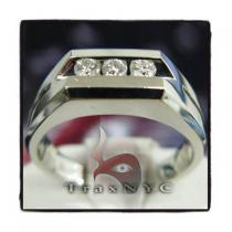 3 Stone Ring Mens Diamond Wedding Bands