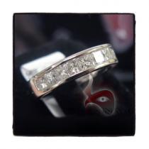 Invisible Princess Cut Engagement Ring メンズ ダイヤモンド 結婚指輪