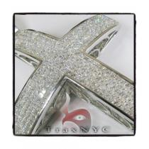 Invisible XL Elevated Princess Cross Mens Diamond Cross
